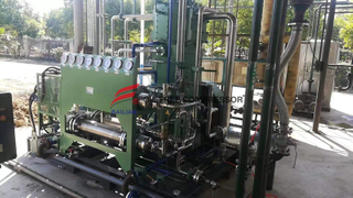 two stage electrochemical hydrogen bottling compressor