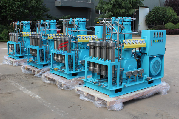 Oil Free High pressure filling oxygen compressor is ready for shippment