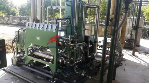 What are the components of a hydrogen compressor?