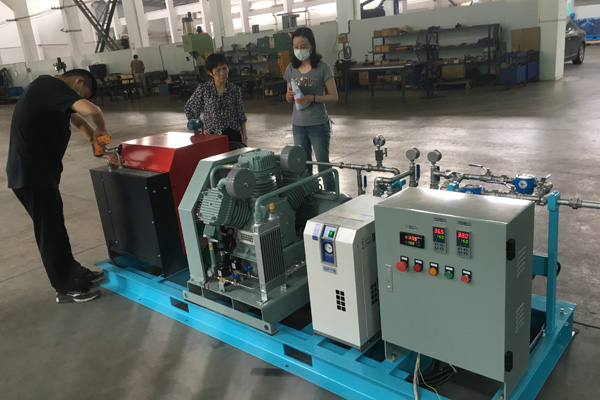 Welcome Daikin Fluorine chemical company to Bailian for inspection compressor